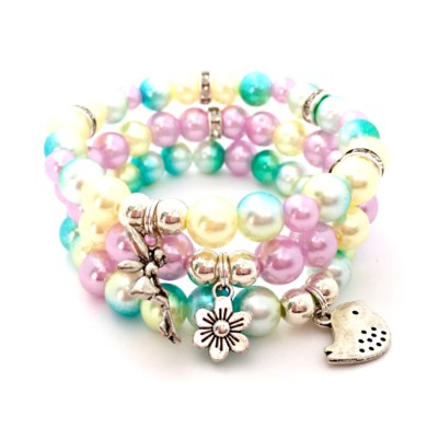 Girls Fairy Charm Stack Bracelet