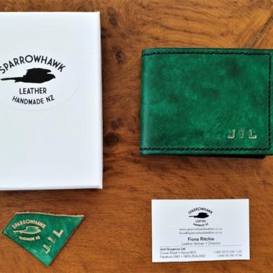 Sparowhawk Leather Emerald Green wallet