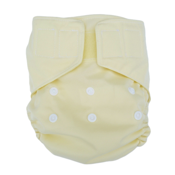 Homemade Reusable Nappy - Soft Yellow