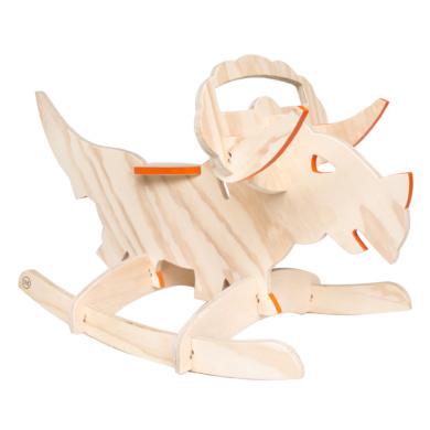 wooden rocking dinosaur