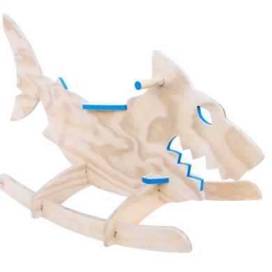 wooden rocking shark