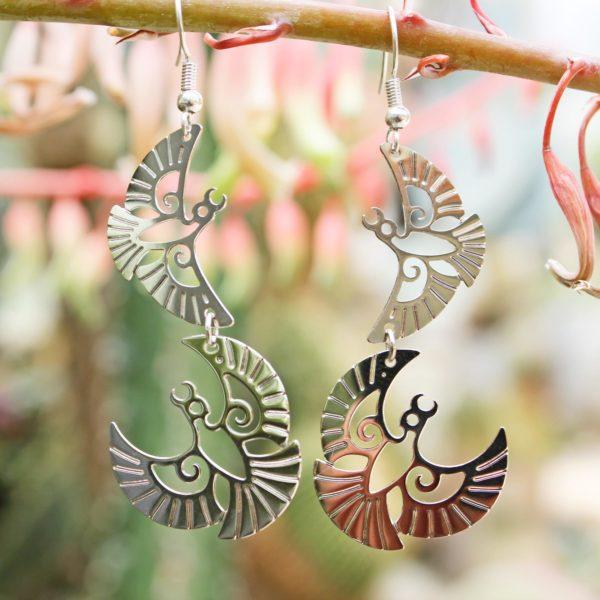 sample Mohua earrings