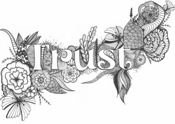 'Trust' Zentangle Design