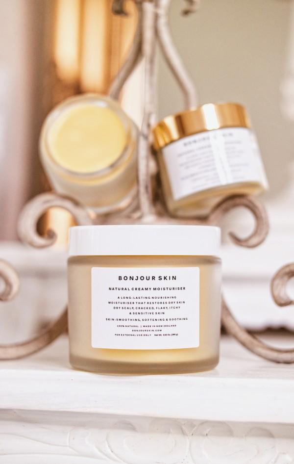 Bonjour Skin NZ Natural Moisturiser for dry skin itchy flaky cracked eczema psoriasis sensitive skin scalp