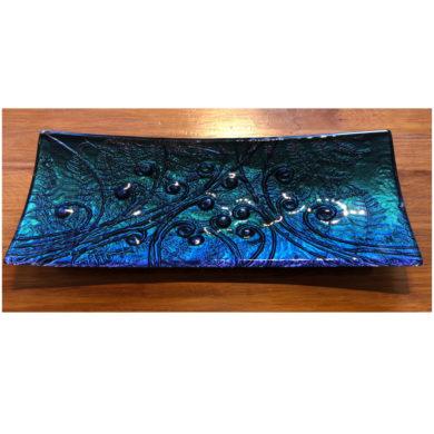 Kaleidoscope sushi slumped glass platter escape glass