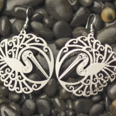 sample Kotuku earrings