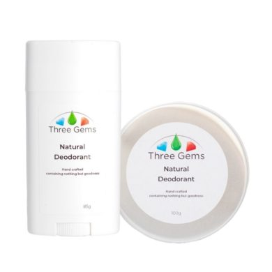 Natural deodorant in a tube or pot