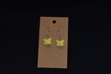Yellow Butterfly earrings