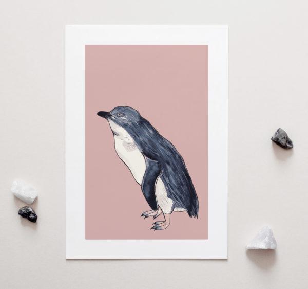 Little Blue Penguin Art Print by NZ Artist Penny Royal