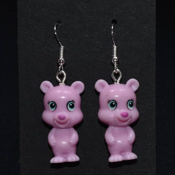 Green Party Animal Bear Earrings