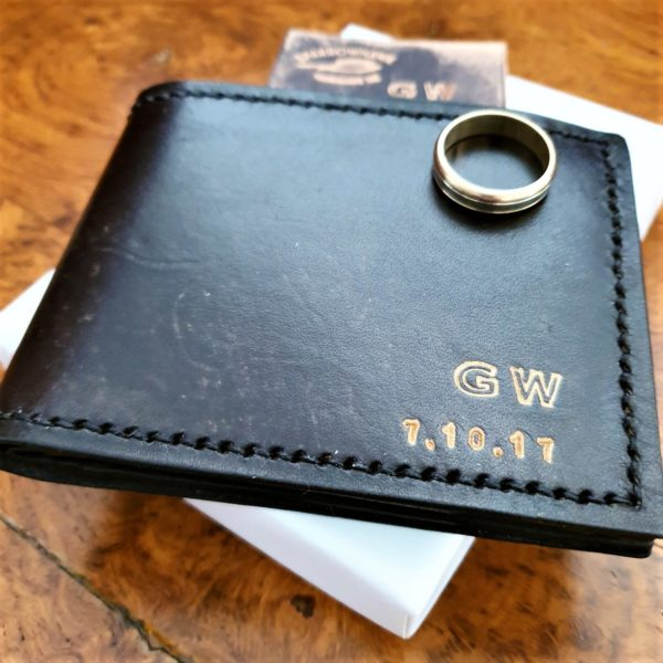 Sparrowhawk Leather Handmade NZ Antique Black anniversary wallet