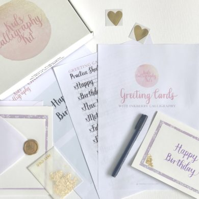 Kids Calligraphy Kits Greeting Cards