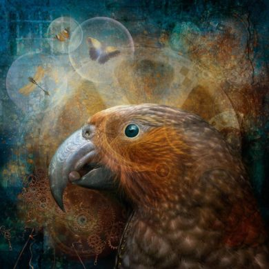 Photo-art of a kaka churning out some good ideas by way of thought bubbles