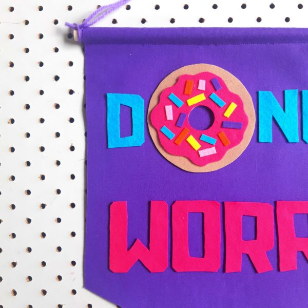 Donut worry banner