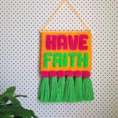 Have faith punch needle