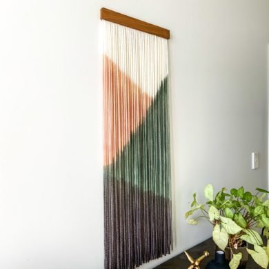 Linear Callisia - fiber wall art