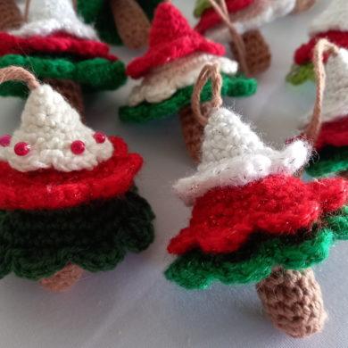 Crocheted Christmas Tree decoration