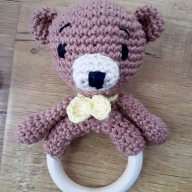 bear ring rattle
