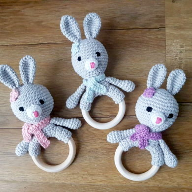 Bunny Ring Rattles