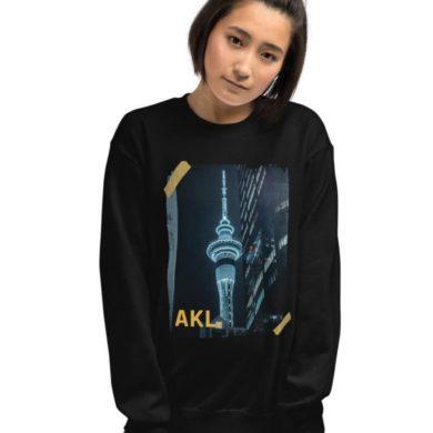 Auckland Sky Tower - Vintage Retro Women's Sweatshirt